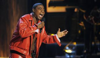 "In this Nov. 3, 2012, file photo, comedian Tracy Morgan performs at ""Eddie Murphy: One Night Only,"" a celebration of Murphy's career at the Saban Theater in Beverly Hills, Calif. (Photo by Chris Pizzello/Invision, File)"