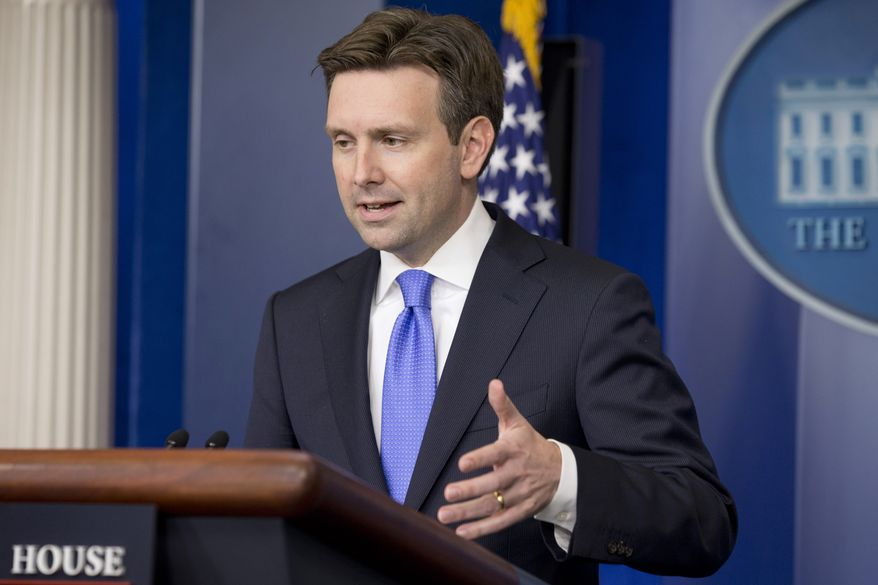 White House principal deputy press secretary Josh Earnest speaks to the media during the daily news briefing at the White House in Washington, Tuesday, June 10, 2014. Earnest answered questions including on the recent soldier deaths in Afghanistan. (AP Photo/Jacquelyn Martin)