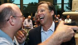 """In toppling House Majority Leader Eric Cantor, Dave Brat, above, showed Virginia GOP primary voters """"his candidacy was relevant to their lives,"""" says Raynard Jackson. (AP Photo/Richmond Times-Dispatch, P. Kevin Morley)"""