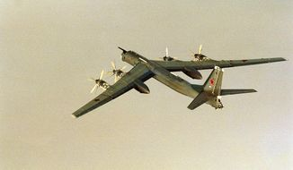 A Russian Tu-95 Bear H. (Associated Press) ** FILE **