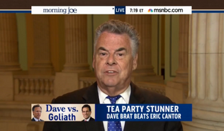 "Republican Rep. Peter King said Wednesday that the GOP must work to prevent ""the Ted Cruzes and the Rand Pauls"" from taking over the party. (MSNBC)"