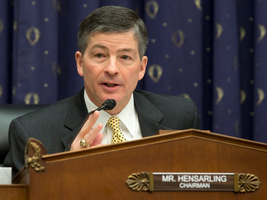 "House Financial Service Committee Chairman Rep. Jeb Hensarling, Texas Republican, is a vocal opponent of the Export-Import bank, calling its reauthorization a ""bad idea"" and expressing doubts over the bank's self-reported operating profit. (Associated Press)"