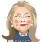 Illustration on Hillary Clinton's wrong position on terrorism by Linas Garsys/The Washington Times