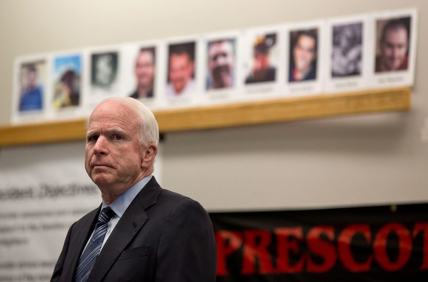 Sen. John McCain has suggested David Petraeus be put in charge of a new national security team to deal with Islamic militants in Iraq. (associated press)