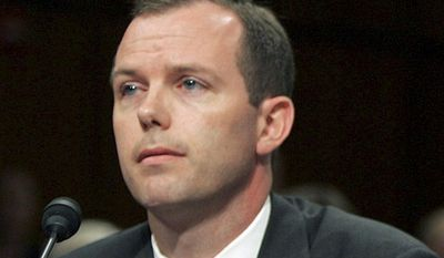 ** FILE ** Kevin Ring testifies on Capitol Hill in Washington in June 2005. (AP Photo/Susan Walsh, File)