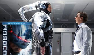 "Joel Kinnaman and Gary Oldman (right) star in the ""Robocop"" reboot, now available in Blu-ray. (Courtesy Twentieth Century Fox Home Entertainment)"