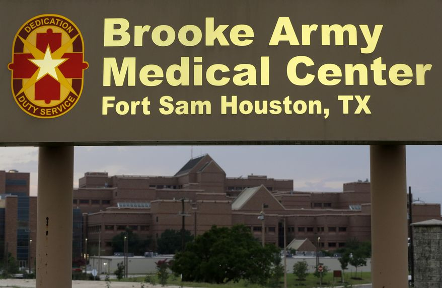 Brooke Army Medical Center is shown Thursday, June 12, 2014, in San Antonio. Sgt. Bowe Bergdahl, who has been recovering in Germany after five years as a Taliban captive, is returning to the United States and is expected to arrive at the facility early Friday morning. (AP Photo/David J. Phillip)
