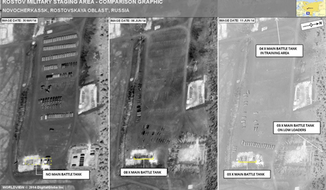 New satellite images reveal that Russian tanks have crossed the border into the eastern part of Ukraine, NATO announced Sunday. (ACO - NATO)