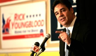Rep. Raul Labrador suffered a setback over the weekend in his challenge against Rep. Kevin McCarthy to become the House Majority Leader when he presided over a chaotic state party convention in which Idaho Republicans failed to elect a chairman or adopt a platform. (associated press photographs)