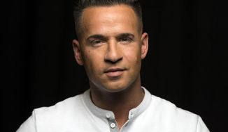 """FILE - This Sept. 9, 2013 file photo shows reality television star from the MTV Series """"Jersey Shore,"""" Mike """"The Situation"""" Sorrentino in New York. Sorrentino has been arrested after a fight at a tanning salon. Middletown Township police Det. Lt. Stephen Dollinger says officers responded to the Boca tanning salon at around 2:10 p.m. Tuesday, June 17, 2014, on a report of a fight in progress. Dollinger says he doesn't have details on what sparked the fight or on who else was involved. Sorrentino was charged with simple assault. He posted $500 bail and was released. A court date on the matter has not been scheduled. (Photo by Drew Gurian/Invision/AP, File)"""