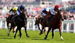 Toronado ridden by Richard Hughes, right, race to victory in Queen Anne Stakes during Day One of   Royal Ascot horse racing meeting at Ascot England Tuesday June 17, 2014. (AP Photo/David Davies/PA) UNITED KINGDOM OUT