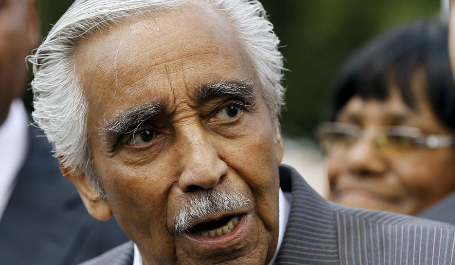 FILE - In this June 7, 2012 file photo, Rep. Charlie Rangel, D-N.Y. speaks during a news conference on Capitol Hill in Washington. Rangel, one of the longest-serving members of Congress, is in the political fight of his life and his political fate will be decided next week in a too-close-to-call primary. (AP Photo/Haraz N. Ghanbari, File)