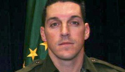 **FILE** This undated photo provided by U.S. Customs and Border Protection shows U.S. Border Patrol agent Brian A. Terry, who was fatally shot in 2010 north of the Arizona-Mexico border while trying to catch bandits who target illegal immigrants. (Associated Press/U.S. Customs and Border Protection)