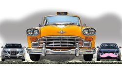 Illustration on threats to the taxi industry monopolies by Alexander Hunter/The Washington Times