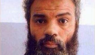 Federal prosecutors won a new 18-count indictment against accused Benghazi attacker Ahmed Abu Khatallah on Tuesday, Oct. 15, 2014. (Associated Press)