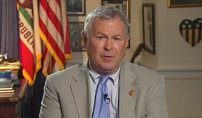 Dana Rohrabacher, Congressman CA-48 discusses the return of the terrorists with TellDC (screenshot)