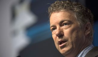 This Friday, June 20, 2014, file photo shows Sen. Rand Paul, R-Ky., speaking at the Faith and Freedom Coalition's Road to Majority event in Washington. (AP Photo/Molly Riley, File)