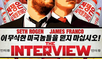 "A spokesman for North Korean leader Kim Jong-un said Friday that the Hollywood comedy ""The Interview,"" with Seth Rogen and James Franco that shows the autocrat's fake assassination, is indicative of American society's ""desperation."" Kim appears as a character in the movie, played by actor Randall Park. (CTMG, Inc.)"