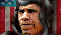 Obama Reaper Illustration by Greg Groesch/The Washington Times
