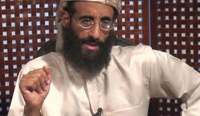 """FILE - In this image taken from video and released by SITE Intelligence Group on Monday, Nov. 8, 2010, Anwar al-Awlaki speaks in a video message posted on radical websites. On Friday, April 4, 2014, U.S. District Judge Rosemary Collyer dismissed a lawsuit against Obama administration officials for the 2011 drone-strike killings of three U.S. citizens in Yemen, including U.S.-born al-Qaida leader al-Awlaki. Collyer said the case raises serious constitutional issues and is not easy to answer, but that """"on these facts and under this circuit's precedent,"""" the court will grant the Obama administration's request. (AP Photo/SITE Intelligence Group, File) NO SALES, MANDATORY CREDIT"""