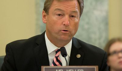 "Sen. Dean Heller, Nevada Republican, said ""in the environment we have here today, we wouldn't be able to pass retroactive unemployment extension. We're doing the best we can."" (associated Press)"