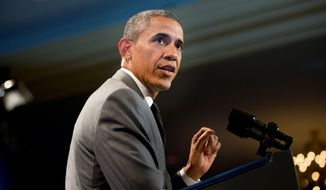 President Obama is scheduled to address the powerful League of Conservation Voters on Wednesday night, one year to the day after laying out his ambitious climate change agenda during a speech at Georgetown University. (AP Photo/Pablo Martinez Monsivais)