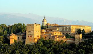 The Spanish city of Granada is known for its 11th-century Alhambra palace. (Wikipedia)
