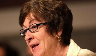 """Sen. Susan M. Collins, Maine Republican, said employers should be allowed to calculate full-time employees based on a 40-hour workweek instead of 30 hours under the new health law. """"This is not a hypothetical concern,"""" Ms. Collins said. (Associated Press)"""