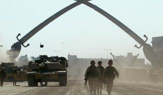 American forces in Baghdad at he start of the Iraq war                           Associated Press photo