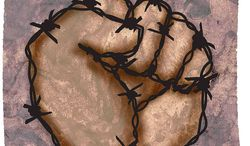 Barbwire Fist Illustration by Greg Groesch/The Washington Times