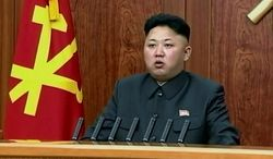 In this image taken from video made available on Wednesday, Jan. 1, 2014, North Korean leader Kim Jong-un delivers an annual New Year's Day message in Pyongyang, North Korea. (AP Photo/KRT via AP Video) ** FILE **