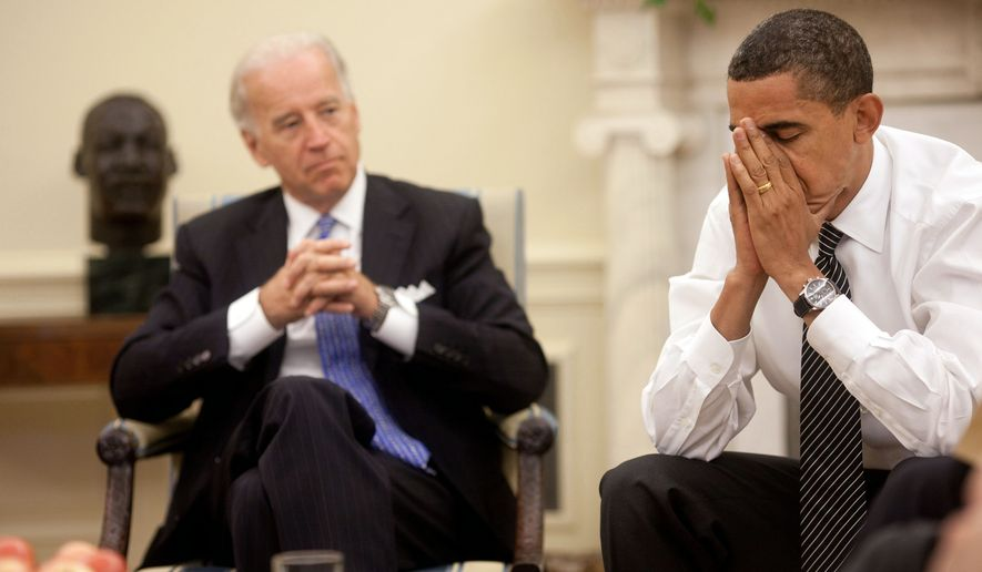 President Barack Obama and Vice President Joe Biden in the Oval Office during the President's Daily Economic Briefing on July 30, 2009. (White House)