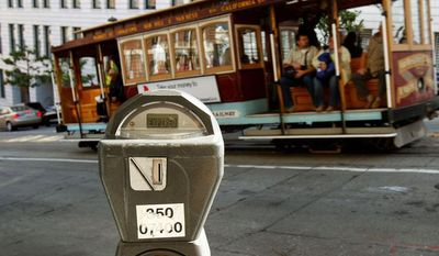 San Francisco City Attorney Dennis Herrera on Monday issued a cease-and-desist letter to a mobile app called Monkey Parking, which allows people to auction off public parking spaces that they're using to other nearby drivers. (Associated Press)