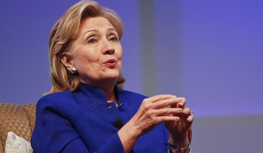 A CNN panel agreed former Secretary of State Hillary Rodham Clinton may have harmed herself with minority voters due to her prolonged silence on the shooting death of Michael Brown.  (AP Photo/Lenny Ignelzi)