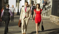 """This image released by CBS shows Cam Gagandet as Roy Rayder, left, and Anna Wood as Jamie Sawyer in """"Reckless,"""" a sultry legal drama premiering Sunday, June 29 at 9:00 p.m., ET/PT on the CBS Television Network. (AP Photo/CBS, Jackson Lee Davis)"""