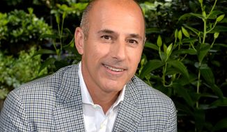 "This undated image released by NBC shows Matt Lauer, co-host of the ""Today"" show in London. Lauer has no regrets asking General Motors CEO Mary Barra about balancing work and motherhood, saying he sees it as an issue that affects all working parents regardless of their gender. The host of NBC's ""Today"" show, 56, said Friday, June 27, 2014, he'd welcome the same question if it were put to him. He struck a raw nerve in Thursday's live interview with a question criticized as sexist. (AP Photo.NBC, Anthony Harvey)"
