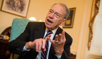 """These whistleblowers never have the opportunity to make their case,"" said Sen. Chuck Grassley, Iowa Republican. ""It's stereotypical treatment of whistleblowers for the executive branch."" (Andrew Harnik/The Washington Times)"