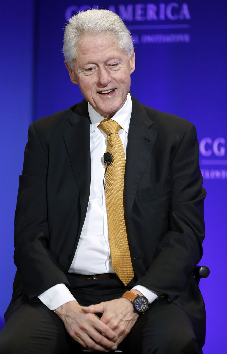 Former President Bill Clinton says states should experiment with legalizing marijuana. (AP Photo/Brennan Linsley)