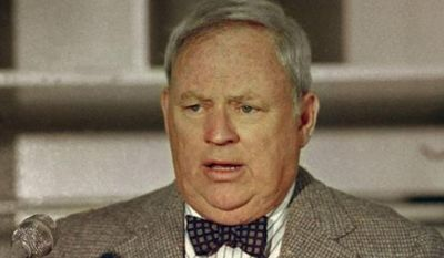 FILE - This is a 1987 file photo showing New York Mets general manager Frank Cashen. The Mets say Cashen has died. He was 88. The team says Cashen died Monday, June 30, 2014,  at a hospital in Easton, Maryland. (AP Photo, File)