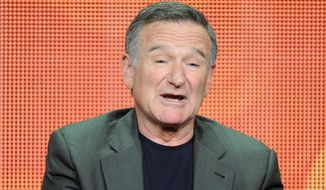 "FILE - In this July 29, 2013 file photo, actor Robin Williams participates in the ""The Crazy Ones"" panel at the 2013 CBS Summer TCA Press Tour at the Beverly Hilton Hotel in Beverly Hills, Calif. Williams is reconnecting with the 12-step program during a brief stay in Minnesota. A spokeswoman for the 62-year-old actor-comedian said on Tuesday, July 1, 2014, that Williams planned the visit as a respite to recharge after more than 18 straight months of work.  (Photo by Frank Micelotta/Invision/AP, File)"
