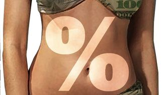 Illustration on the impact of the tanning tax by Alexander Hunter/The Washington Times