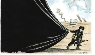 Illustration on Iraq chaos by De Angelis, Rome Italy/CartoonArts International