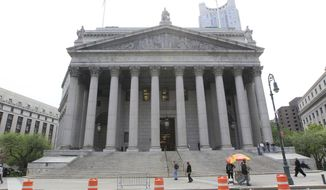 **FILE** The Supreme Court building in New York is seen here on May 3, 2011. (Associated Press)