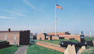"Fort McHenry in Baltimore was where Francis Scott Key wrote ""The Star-Spangled Banner"" and where cannon shots defended the city against the British during the War of 1812. (Associated Press)"