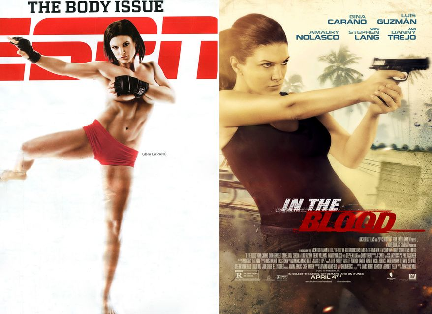 """Gina Carano is an actress, television personality, fitness model, and former mixed martial artist. Carano began her training with straight Muay Thai to competitive MMA where she had tenures in organizations such as Strikeforce and EliteXC and has been featured in ESPN The Magazine as well as Maxim. Her popularity with fans and audiences has helped her garner the title of being the """"Face of Women's MMA"""" and was ranked on the """"Top Ten Influential Women of 2008"""" list on Yahoo!. Carano landed the leading role in the spy thriller movie Haywire (2011), directed by Steven Soderbergh as well as the film In the Blood."""