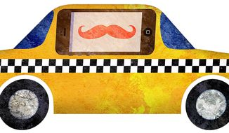 Cellphone Cab Illustration by Greg Groesch/The Washington Times