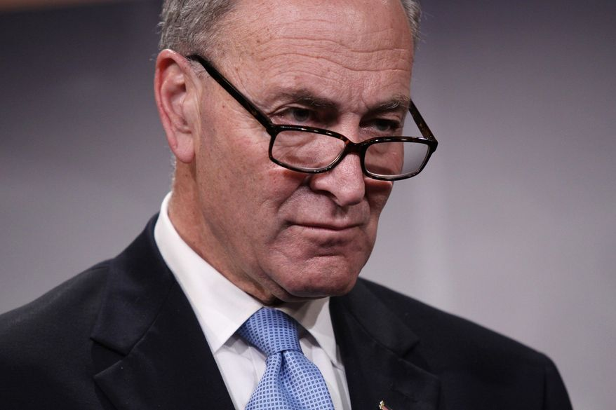 The Senate bill, sponsored by Sen. Charles E. Schumer, New York Democrat, would keep the current plan largely intact, although it would increase the share of insured losses paid for by private insurance and direct the government to study the effects of premiums collected through the program. . (AP Photo/Lauren Victoria Burke)