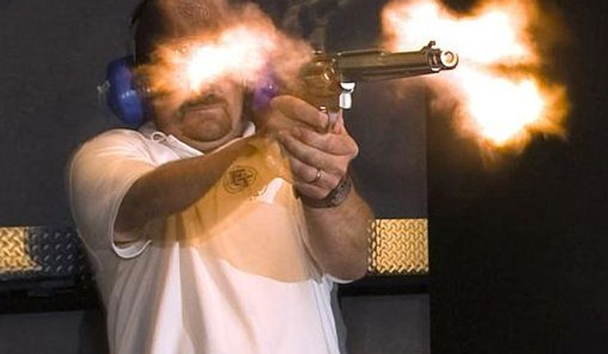 The Smith & Wesson Model 500 is a five-shot, single action/double-action large caliber revolver produced by Smith & Wesson, firing the .500 S&W Magnum cartridge, a .50 caliber bullet.