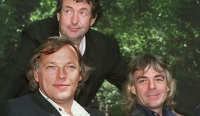 **FILE** Members of the rock group Pink Floyd (from left) David Gilmour, Nick Mason and Richard Wright, are shown in this 1988 photo. (Associated Press)