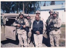 Khalil Mahmoud working as an interpreter for the U.S. military in Iraq. (mahmoud family)